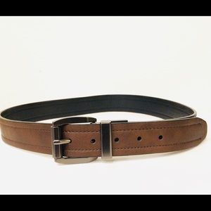 Other - Men's brown belt made in India bonded leather core